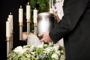 Funeral services with cremated remains